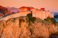 Dubrovnik city wall Royalty Free Stock Images