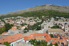 Dubrovnik City Wall Royalty Free Stock Photography
