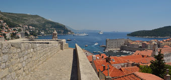 Dubrovnik City Wall Stock Photo