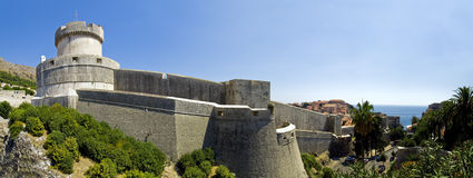 Dubrovnik city walls panorama Royalty Free Stock Photo