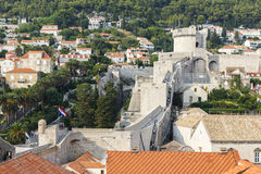 Dubrovnik City Walls Stock Photos