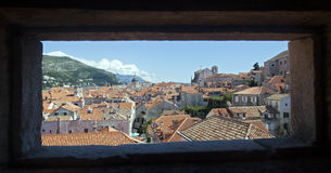 Dubrovnik City Through Window Stock Images