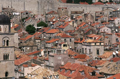 Dubrovnik Cityscape. The rooftops of the old city of Dubrovnik, Croatia Royalty Free Stock Photos