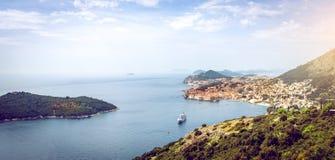 Dubrovnik cityscape arkivfoton