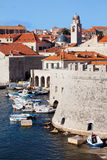 Dubrovnik Cityscape and Harbor Stock Images