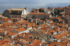 Dubrovnik cityscape. Dubrovnik old town view, Croatia Stock Images
