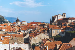 Dubrovnik cityscape on summer day in Croatia. Historic Dubrovnik on a lovely sunny day stock image