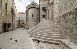 Dubrovnik, a Corner. A typical corner of old Croatian town of Dubrovnik Royalty Free Stock Photo