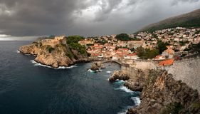 dubrovnik Croácia Vista da cidade fotos de stock royalty free