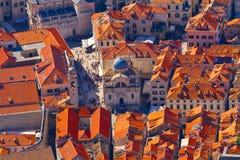 Dubrovnik, Croacia, visión superior Foto de archivo libre de regalías