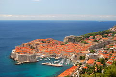 Picturesque view on the old town of Dubrovnik, Cro Royalty Free Stock Image
