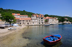 Dubrovnik, Croatia. Adriatic Sea and Beach of Dubrovnik in Croatia Stock Photography
