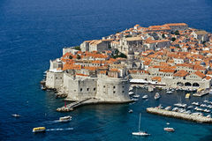 Dubrovnik in Croatia. View of an old city of Dubrovnik, Croatia Royalty Free Stock Images