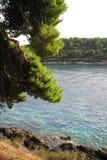 Dubrovnik Croatia Adriatic morza piękny widok Fotografia Royalty Free