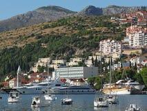 Dubrovnik,  Croatia, august 2013, new Dubrovnik harbor Royalty Free Stock Photos