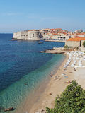 Dubrovnik, Croatia, august 2013, old city seen from Banje beach Stock Photo