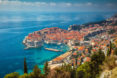 Dubrovnik, Croatia. Beautiful romantic old town of Dubrovnik during sunny day, Croatia,Europe royalty free stock photos
