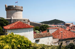 Dubrovnik. Croatia. Dubrovnik. Beautiful view of the fortress and the city. Dubrovnik is one of the most beautiful cities in Croatia, located in the south of Royalty Free Stock Photo