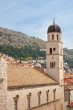 Dubrovnik Croatia clock tower and buildings Royalty Free Stock Photos