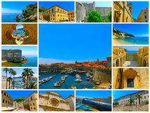 Dubrovnik, Croatia - Collage from views of old town Royalty Free Stock Photos