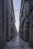Dubrovnik, Croatia - Empty Street in the Old Town Royalty Free Stock Images
