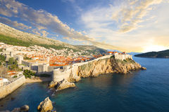 Dubrovnik. Croatia. The fortress Bokar or Zvjezdan and the South-western part of Dubrovnik City walls. Croatia Royalty Free Stock Images