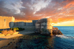 Dubrovnik, Croatia. The fortress Bokar or Zvjezdan and the South-western part of Dubrovnik City walls. Croatia Stock Photo