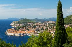 Dubrovnik Croatia harbor beautiful landscape Stock Photo