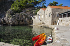 Dubrovnik - Croatia. Historical stone houses in Dubrovnik - Croatia Royalty Free Stock Image