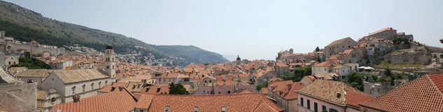 Dubrovnik, Croatia. Houses on hillside in Dubrovnik, Croatia royalty free stock photos