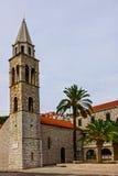 Dubrovnik croatia Kościół w rejsu porcie Obraz Royalty Free