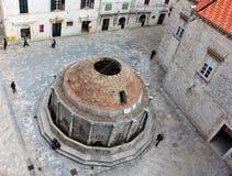 Dubrovnik, Croatia. The Large Onofrio's Fountain. Stock Photography