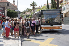 Dubrovnik Croatia local bus service Royalty Free Stock Photos