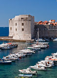 Dubrovnik, Croatia, marina and old town Royalty Free Stock Photos