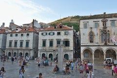 DUBROVNIK, CROATIA - MAY 16, 2014:  old town of Dubrovnik. On 16 May 2014 in Dubrovnik, Croatia Royalty Free Stock Image