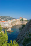 Dubrovnik, Croatia - Medieval City Walls as Seen from the Sea Si Stock Images
