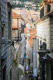 Dubrovnik Croatia miasta stary widok od miasto ściany Obraz Stock