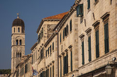 DUBROVNIK/CROATIA Morning details of Stradun Royalty Free Stock Images