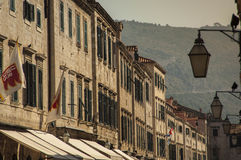 DUBROVNIK/CROATIA - Morning details of Stradun Stock Photos