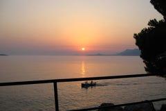 Dubrovnik Croatia morza widok Piękny widok zmierzch Obraz Stock