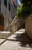 Dubrovnik, Croatia, narrow alley in the old city. Stock Images