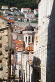 Dubrovnik, Croatia. Narrow street of Old Town Dubrovnik, Croatia. Selective focus royalty free stock images