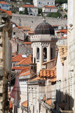 Dubrovnik, Croatia. Narrow street of Old Town Dubrovnik, Croatia. Selective focus royalty free stock image
