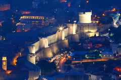 Dubrovnik.Croatia.Night view of the old city. Royalty Free Stock Photo