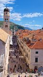 Dubrovnik, Croatia - October 2017: Overview of tourists on the street of old town Dubrovnik in Croatia Stock Photography