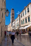 Dubrovnik, Croatia - October 2017: Overview of tourists on the street of old town Dubrovnik in Croatia Stock Photos