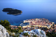 Dubrovnik, Croatia. Old city of Dubrovnik, Croatia and the blue hour Royalty Free Stock Image