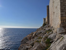 Dubrovnik, Croatia, the old city walls Stock Images