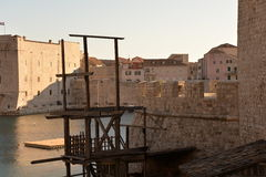 Dubrovnik, Croatia, the old harbor Royalty Free Stock Photography