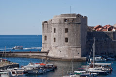 Dubrovnik, Croatia, old town. Historic old town in Dubrovnik, Croatia, seen from its harbor Stock Images